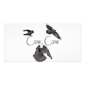 Caw del Caw Tarjeta Fotográfica Personalizada