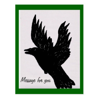 Cawing Crow Postcard