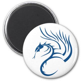 Cawthorne el dragón azul imán redondo 5 cm
