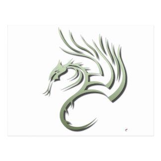 Cawthorne el dragón verde metálico postal