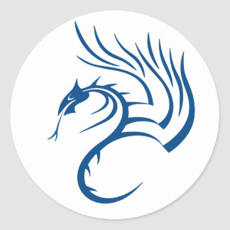 Cawthorne the Blue Dragon Classic Round Sticker