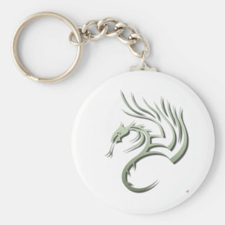 Cawthorne the Metallic Green Dragon Keychain
