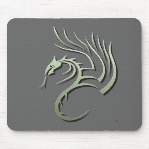 Cawthorne the Metallic Green Dragon Mouse Pad