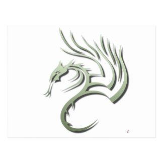 Cawthorne the Metallic Green Dragon Post Card