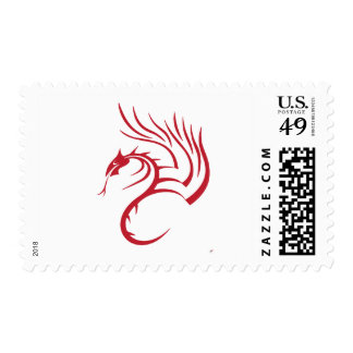 Cawthorne the Red Dragon Postage Stamp