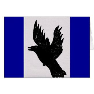 Cawwing Crow Card