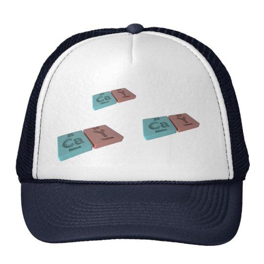 Cay as Ca Calcium and Y Yttrium Trucker Hat