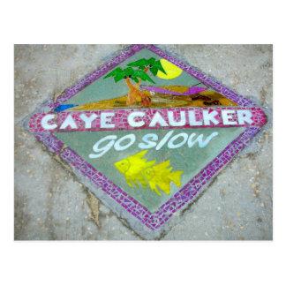 "Caye Caulker ""Go Slow"" Postcard"
