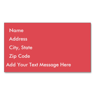 Cayenne Business Card Magnet