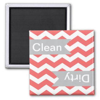 Cayenne Chevron Clean - Dirty Dishwasher Magnets