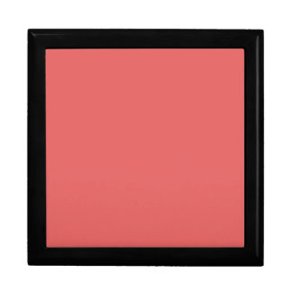 Cayenne Coral Pink Color Trend Blank Template Jewelry Box