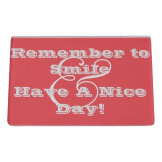 Cayenne Desk Business Card Holder