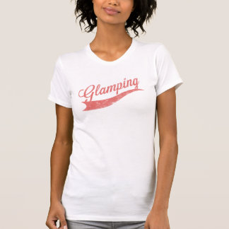 "Cayenne Faded ""Glamping"" Logo Ladies Top Tee Shirt"