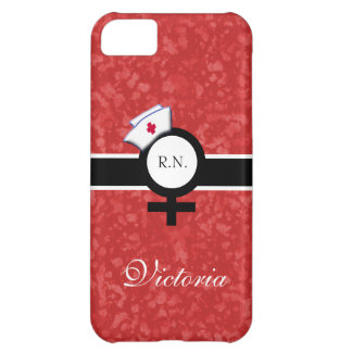 Cayenne Red+Female Sign+Nurse Cap/Name iPhone 5C Cover