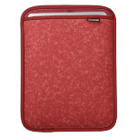 Cayenne Red Mottled Pattern iPad Sleeve