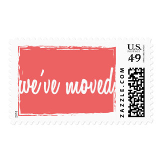 Cayenne We've Moved New Home Postage Stamps