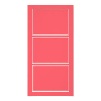 Cayman Coral-Peach-Melon-Pink- Double White Border Card