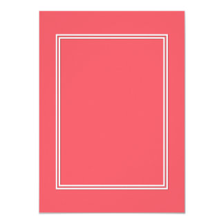 Cayman Coral-Peach-Melon-Pink- Double White Border Card