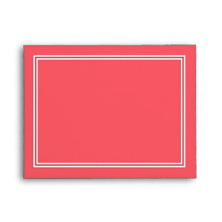 Cayman Coral-Peach-Melon-Pink- Double White Border Envelope