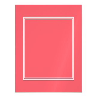 Cayman Coral-Peach-Melon-Pink- Double White Border Magnetic Invitations