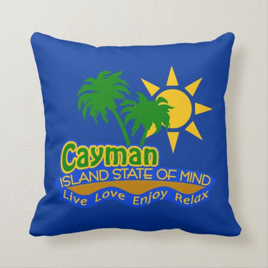 Cayman Island State of Mind pillow