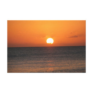 Cayman Island Sunset Stretched Canvas