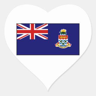 Cayman Islands – Caymanian Flag Heart Sticker