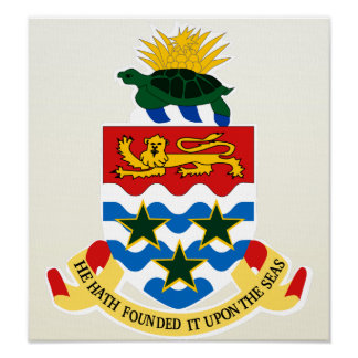 Cayman Islands Coat of Arms detail Posters