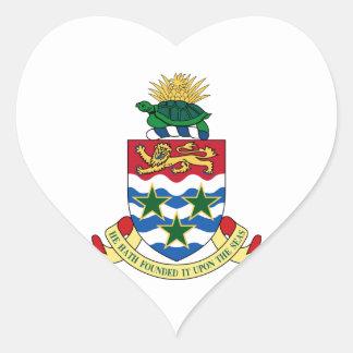 Cayman Islands Coat of Arms Heart Sticker