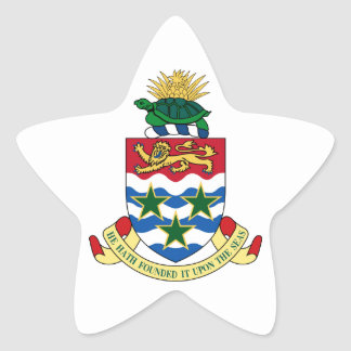 Cayman Islands Coat of Arms Star Sticker