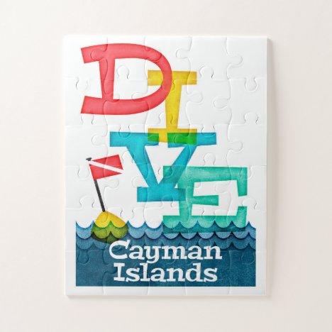 Cayman Islands Dive - Colorful Scuba Jigsaw Puzzle