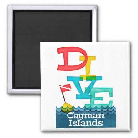 Cayman Islands Dive - Colorful Scuba Magnet