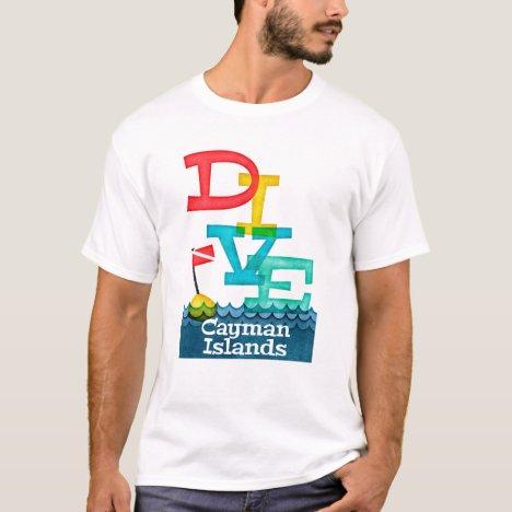 Cayman Islands Dive - Colorful Scuba T-Shirt
