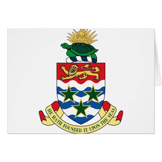 cayman islands emblem card