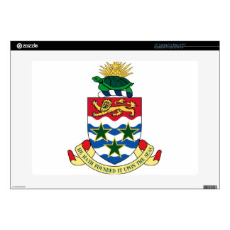 "Cayman Islands Emblem Coat of Arms 15"" Laptop Decal"