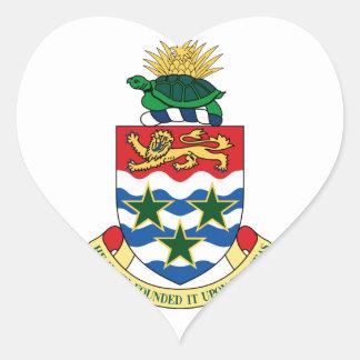 cayman islands emblem heart sticker