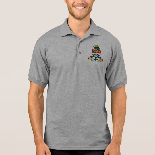 cayman islands emblem polo shirt