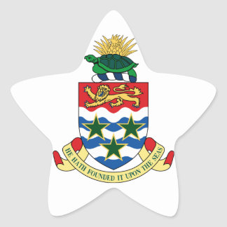 cayman islands emblem star sticker