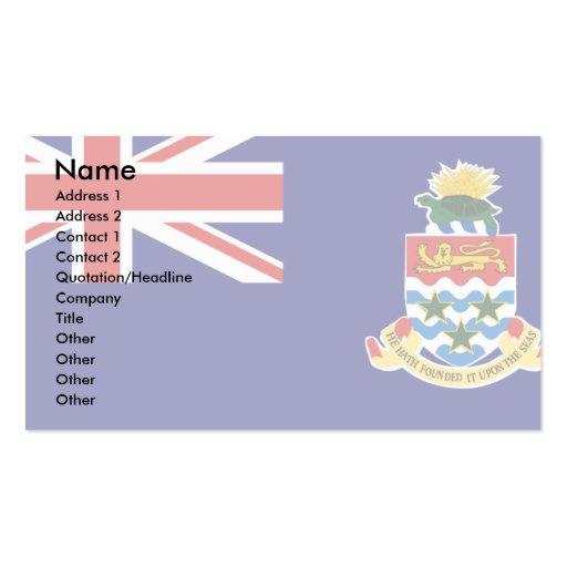Cayman Islands Flag Business Card