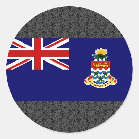 Cayman Islands Flag Classic Round Sticker