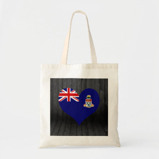 Cayman+Islands flag colored Budget Tote Bag