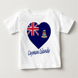 Cayman Islands Flag Heart Baby T-Shirt