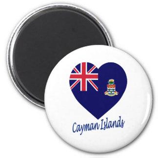 Cayman Islands Flag Heart Fridge Magnet