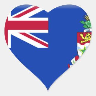 Cayman Islands Flag Heart Sticker