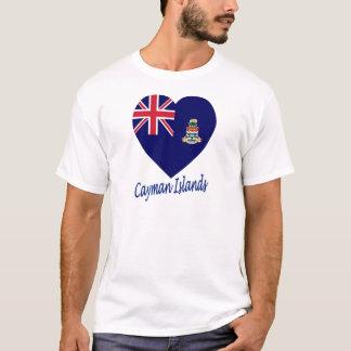 Cayman Islands Flag Heart T-Shirt