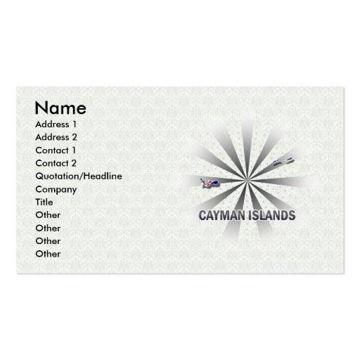 Cayman Islands Flag Map 2.0 Business Cards