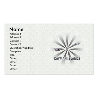 Cayman Islands Flag Map 2.0 Double-Sided Standard Business Cards (Pack Of 100)