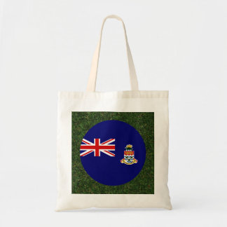 Cayman Islands Flag on Grass Budget Tote Bag