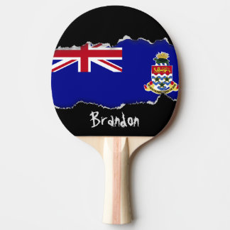 Cayman Islands Flag Ping-Pong Paddle