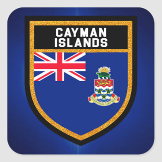 Cayman Islands Flag Square Sticker
